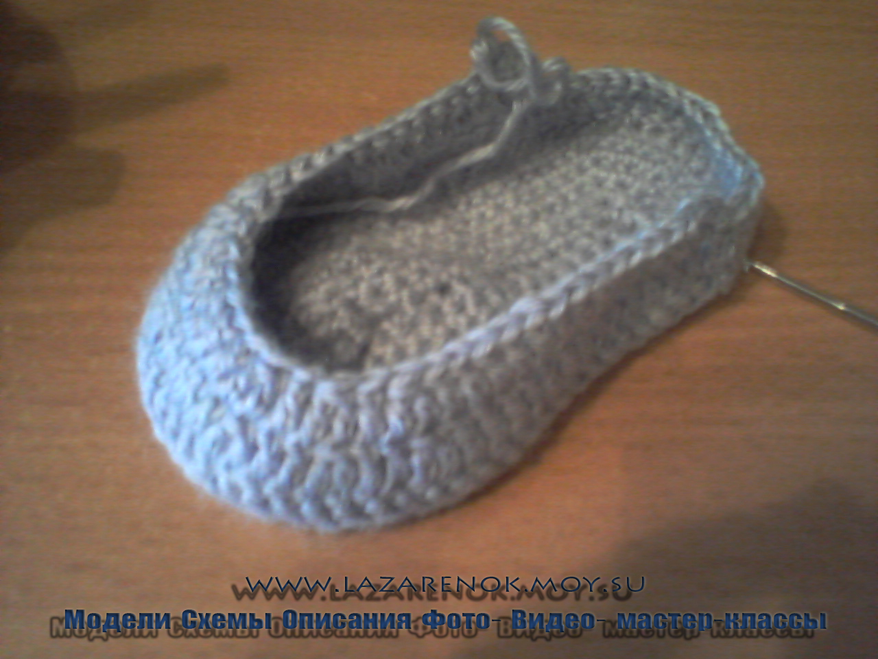 Вяжем туфельки крючком мастер класс
