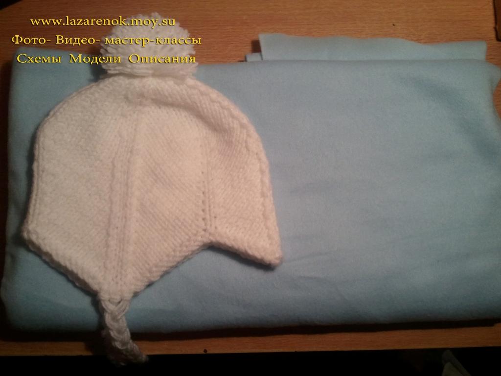Мастер-класс Шапочка для новорожденного на чулочных спицах